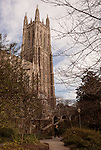January 23, 2013. Durham, North Carolina. The Duke Chapel is the centerpiece of the West Campus of the university.. Duke University has become a power house in the national college basketball arena under the coaching of head coach Mike Krzyzewski. But the university has fought hard to maintain its image of high academic achievement while riding the wave of collegiate athletic success.