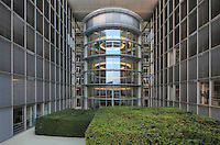Inside the German Chancellery or Bundeskanzleramt, post-modernist style building by Charlotte Frank and Axel Schultes, the personal offices of the Chancellor and the Chancellery staff, opened 2001, Willy-Brandt-Strasse, Berlin, Germany. Picture by Manuel Cohen