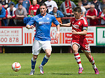 Aberdeen v St Johnstone...28.06.15  Glebe Park, Brechin..Pre-Season Friendly<br /> Michael O'Halloran and Ryan Jack<br /> Picture by Graeme Hart.<br /> Copyright Perthshire Picture Agency<br /> Tel: 01738 623350  Mobile: 07990 594431
