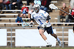 14 February 2015: North Carolina's Luke Goldstock. The University of North Carolina Tar Heels hosted the University of Massachusetts Minutemen in a 2015 NCAA Division I Men's Lacrosse match. UNC won the game 20-8.