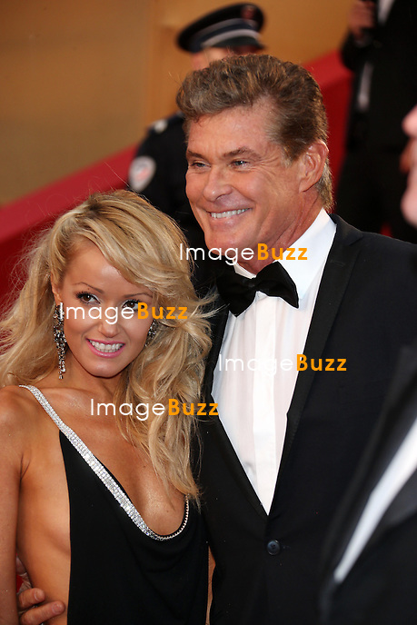 CPE/David Hasselhoff & Hayley Roberts attends the Opening Ceremony and 'The Great Gatsby' Premiere during the 66th Annual Cannes Film Festival at the Theatre Lumiere on May 15, 2013 in Cannes, France.