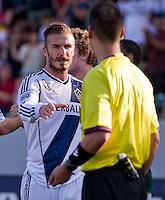 CARSON, CA - June 17, 2012: LA Galaxy midfielder David Beckham (23) after the LA Galaxy vs Portland Timbers match at the Home Depot Center in Carson, California. Final score LA Galaxy 1, Portland Timbers 0.