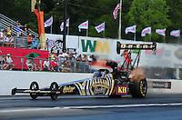 May 4, 2012; Commerce, GA, USA: NHRA top fuel dragster driver Khalid Albalooshi during qualifying for the Southern Nationals at Atlanta Dragway. Mandatory Credit: Mark J. Rebilas-