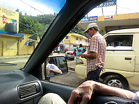 Out our taxi in the mercado of Samana.