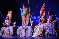 MIAMI, FL - SEPTEMBER 29: Matsini, Pek˙ti, Meu and Matsa Hushahu performs during the Journey to Mutum: A Cultural Encounter with the Yawanaw· Tribe of the Brazilian Amazon at Miami Theater Center on September 29, 2016 in Miami, Florida. Credit: MPI10 / MediaPunch