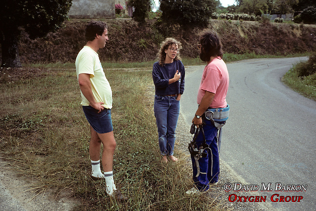 Mathew, Martha Talking To French Telephone Worker