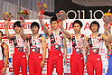 Japan team group, JULY 2nd, 2011 - Artistic gymnastics : Japan Cup 2011 .Men's Team Competition Victory Ceremony at Tokyo Metropolitan Gymnasium, Tokyo, Japan. (Photo by YUTAKA/AFLO SPORT)