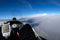 Segelflug, Segelflugzeug, Cockpit, LS4 a, über den Wolken, Welle, Lenticularis, Instrumente, Cambridge 302, Winpilot, Ipaq, Bohli Variometer