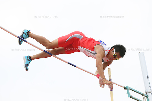 Daichi Sawano, <br /> SEPTEMBER 22, 2013 - Athletics : <br /> The 61st All Japan Industrial Athletics Championship <br /> Men's Pole Vault <br /> at Kumagaya Sports Culture Park Athletics Stadium, Saitama, Japan. <br /> (Photo by YUTAKA/AFLO SPORT) [1040]