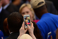 Philadelphia, PA - August 16, 2016: A supporter takes a cell phone photo of democratic presidential candidate Hillary Clinton as she greets supporters at a campaign rally in Philadelphia, Pennsylvania, August 16, 2016.  (Photo by Grant Hollman/Media Images International)