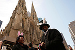 Easter Bonnet Parade along Fifth Avenue in New York April 8, 2012.  Photo by Kena Betancur / VIEWpress.