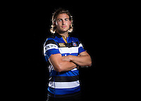 Max Clark poses for a portrait at a Bath Rugby photocall. Bath Rugby Media Day on August 24, 2016 at Farleigh House in Bath, England. Photo by: Rogan Thomson / JMP / Onside Images