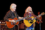 East Meadow, NY - OCTOBER 15: Musicians David Crosby and Graham Nash headliners performing at Obama Rally and concert at Eisenhower Park October 15, 2008 in East Meadow, New York, less than 2 miles away from Hofstra University, the site of final presidential debate held later that night.