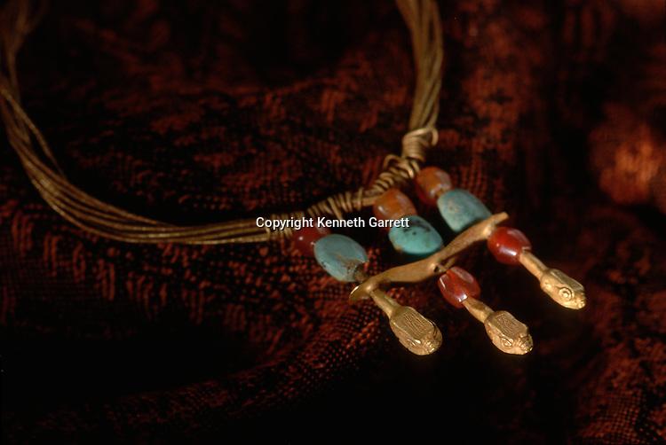 Gold snake necklace; National Museum of Turkmenistan, Ashgabat, artifact, Oxus Civilization; Turkmenistan; Gonor Depe site; Victor Sarianidi; Archaeology; BMAC complex