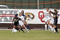 SAN ANTONIO, TX - NOVEMBER 3, 2010: The University of Nebraska Cornhuskers vs. the University of Missouri Tigers in the Big 12 Women's Soccer Championship Quarterfinals at the Blossom Soccer Stadium. (Photo by Jeff Huehn)