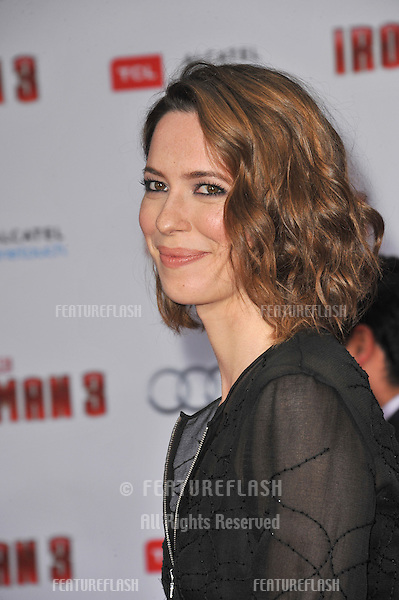 """Rebecca Hall at the Los Angeles premiere of her movie """"Iron Man 3"""" at the El Capitan Theatre, Hollywood..April 24, 2013  Los Angeles, CA.Picture: Paul Smith / Featureflash"""