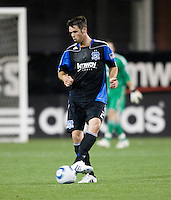 Bobby Burling of Earthquakes in action during the game against the Red Bulls at Buck Shaw Stadium in Santa Clara, California.  San Jose Earthquakes defeated New York Red Bulls, 4-0.