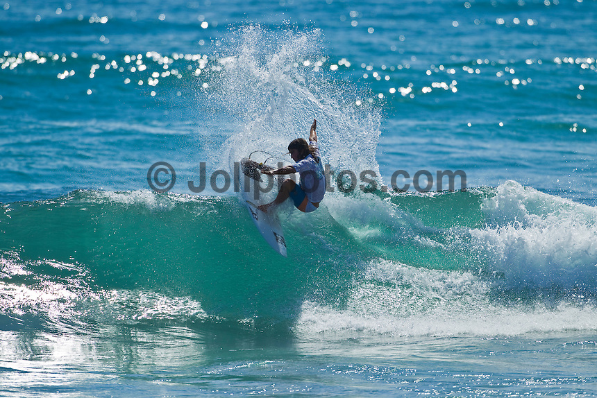 Burleigh Heads, Queensland, Australia (Saturday February 19th 2011). Jayke Sharpe (AUS). .Breaka Burleigh Pro - 2011 An International 4-Star Rated $US85,000 Event. DEFENDING event champion Taj Burrow (AUS) continued to send a warning shots through the field  of the  Breaka Burleigh Pro today with strong displays in the Round of 32 and the Quarter finals. Tiago Pires (PRT) also showed himself as a finals contender along with Joel Parkinson (AUS).. Photo: joliphotos.com