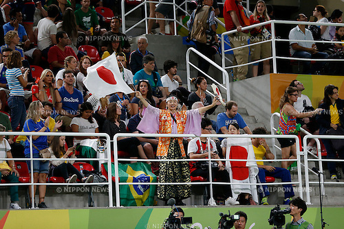 Japan fans (JPN),<br /> AUGUST 8, 2016 - Artistic Gymnastics :<br /> Men's Team Final at Rio Olympic Arena during the Rio 2016 Olympic Games in Rio de Janeiro, Brazil. (Photo by Yuzuru Sunada/AFLO)