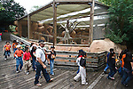 School Children on trip to the Gladys Porter Zoo, Brownsville, Texas, USA