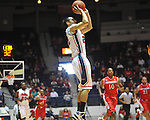 "Ole Miss' Marshall Henderson (22) vs. Rutgers at the C.M. ""Tad"" Smith Coliseum in Oxford, Miss. on Saturday, December 1, 2012. (AP Photo/Oxford Eagle, Bruce Newman).."