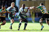 Vereniki Goneva of Leicester Tigers in possession. Aviva Premiership match, between Northampton Saints and Leicester Tigers on April 16, 2016 at Franklin's Gardens in Northampton, England. Photo by: Patrick Khachfe / JMP