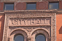 The former city hall building is a landmark of downtown Marquette Michigan.