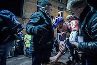 race winner Mathieu Van der Poel (NED/Beobank-Corendon) dug deep (again) to pull off another win<br /> <br /> Elite Men's race<br /> Superprestige Diegem 2016