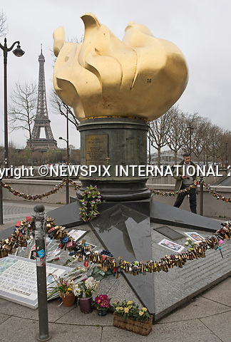 20.03.2017; Paris, FRANCE: PRINCESS DIANA SHRINE PARIS 20 YEARS ON<br />
