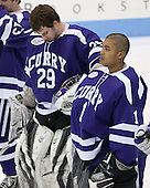 The Wentworth Institute of Technology Leopards defeated the visiting Curry College Colonels 3-1 on Sunday, January 20, 2013, at Matthews Arena in Boston, Massachusetts.