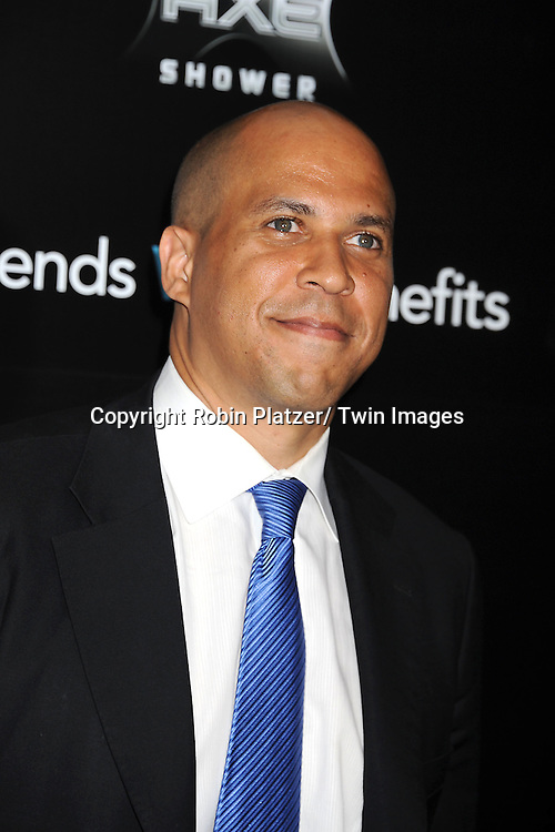 """Cory Booker attending the New York Premiere of """"Freinds With Benefits"""" on July 18, 2011 at The Ziegfeld Theatre in New York City. The movie stars Justin Timberlake, Mila Kunis, Emma Stone, Patricia Clarkson, Jenna Elfman and Bryan Greenberg."""