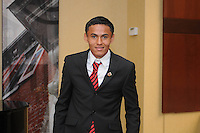 DC United midfielder Andy Najar, at the 2011 Season Kick off Luncheon, at the Marriott Hotel in Washington DC, Wednesday March 16 2011.