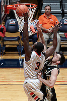 SAN ANTONIO, TX - FEBRUARY 28, 2013: The University of Idaho Vandals vs. the University of Texas at San Antonio Roadrunners Men's Basketball at the UTSA Convocation Center. (Photo by Jeff Huehn)