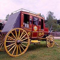 Barkerville, a Restored Historic Gold Rush Town in the Cariboo Region, BC, British Columbia, Canada - Barnard's Express (aka BX) Stagecoach