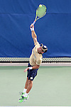 03 April 2015: Notre Dame's Kenneth Sabacinski. The Duke University Blue Devils hosted the University of Notre Dame Fighting Irish at Ambler Stadium in Durham, North Carolina in a 2014-15 NCAA Division I Men's Tennis match. Duke won the match 5-2.