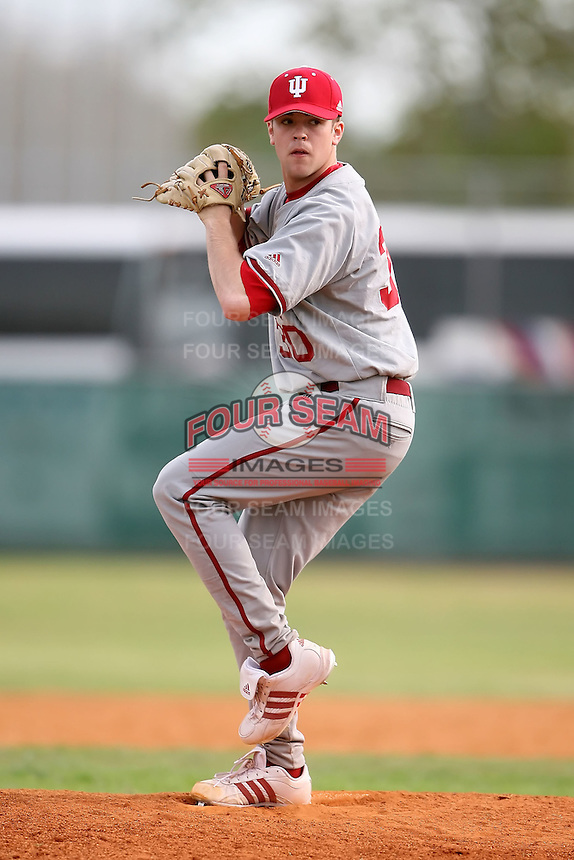 February 22, 2009:  Pitcher Matt Carr (30) of Indiana University during the Big East-Big Ten Challenge at Naimoli Complex in St. Petersburg, FL.  Photo by:  Mike Janes/Four Seam Images