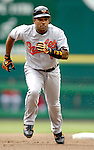 21 May 2006: Miguel Tejada, shortstop for the Baltimore Orioles, runs to third during a game against the Washington Nationals at RFK Stadium in Washington, DC. The Nationals defeated the Orioles 3-1 to take 2 of 3 games in their first inter-league series...Mandatory Photo Credit: Ed Wolfstein Photo..