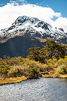 Mount Lyttle 1,899m from Key Summit, Fiordland National Park, UNESCO World Heritage Area, Southland, New Zealand, NZ
