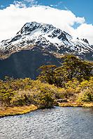 Mount Lyttle 1,899m from Key Summit, Fiordland National Park, UNESCO World Heritage Area, Southland, New Zealand, NZ