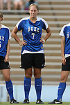 28 August 2009: Duke's Carey Goodman. The Duke University Blue Devils lost 1-0 to the University of North Carolina Greensboro Spartans at Fetzer Field in Chapel Hill, North Carolina in an NCAA Division I Women's college soccer game.