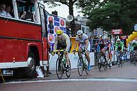 WIELRENNEN: SURHUISTERVEEN: 30-07-2013, Profronde Surhuisterveen, Chris Froome aan de leiding, ©foto Martin de Jong