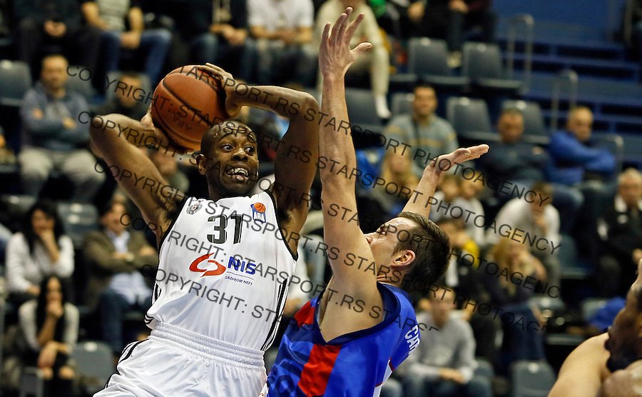Jamar Wilson Aba regionalna liga Partizan - Igokea 27.12.1015. December 27. 2015. (credit image & photo: Pedja Milosavljevic / STARSPORT)