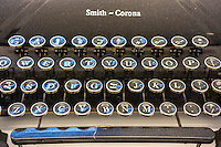 Close-up of the keys of a Smith-Corona brand manual typewriter on Saturday, October 11, 2014. (© Richard B. Levine)