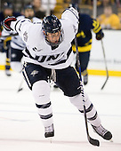 Connor Hardowa (UNH - 2) - The Merrimack College Warriors defeated the University of New Hampshire Wildcats 4-1 (EN) in their Hockey East Semi-Final on Friday, March 18, 2011, at TD Garden in Boston, Massachusetts.