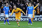 Motherwell v St Johnstone...28.01.12  .Henrik Ojamaa celebrates his seocnd goal.Picture by Graeme Hart..Copyright Perthshire Picture Agency.Tel: 01738 623350  Mobile: 07990 594431