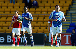St Johnstone v Aberdeen....18.08.12   SPL.Nigel Hasselbaink gets the ball back after scoring.Picture by Graeme Hart..Copyright Perthshire Picture Agency.Tel: 01738 623350  Mobile: 07990 594431