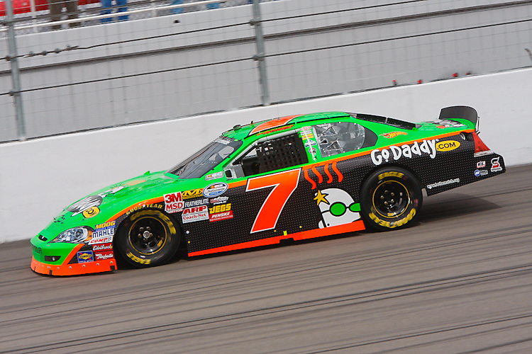Feb. 26, 2010, Las Vegas, NV: Danica Patrick and her GoDaddy number 7 practice for her second Nationwide race of her career at Las Vegas Motor Speedway