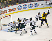 The University of Michigan ice hockey team beat Michigan State, 5-2, at Joe Louis Arena in Detroit, Mich., on February 2, 2013.