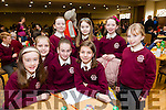 Pictured at the Tralee Credit Union Schools Quiz Brandon hotel on Sunday were Bella Harmon, Blaithin O'Mahony, Ellis Enright, Colene O'Callaghan, Nora Anne Hartnett, Mya Griffin, Miriam O'Connell and Ava Mc Govein from Muire Gan Smal Presentation, Castleisland
