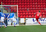 St Johnstone v Ross County.....21.04.13      SPL.Richie Brittain scores his second penalty.Picture by Graeme Hart..Copyright Perthshire Picture Agency.Tel: 01738 623350  Mobile: 07990 594431